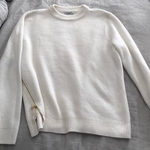 Sweaters - Cream Zipper Sweater